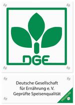 Logo-Schild PREMIUM-Zertifizierung für Caterer, Quelle DGE